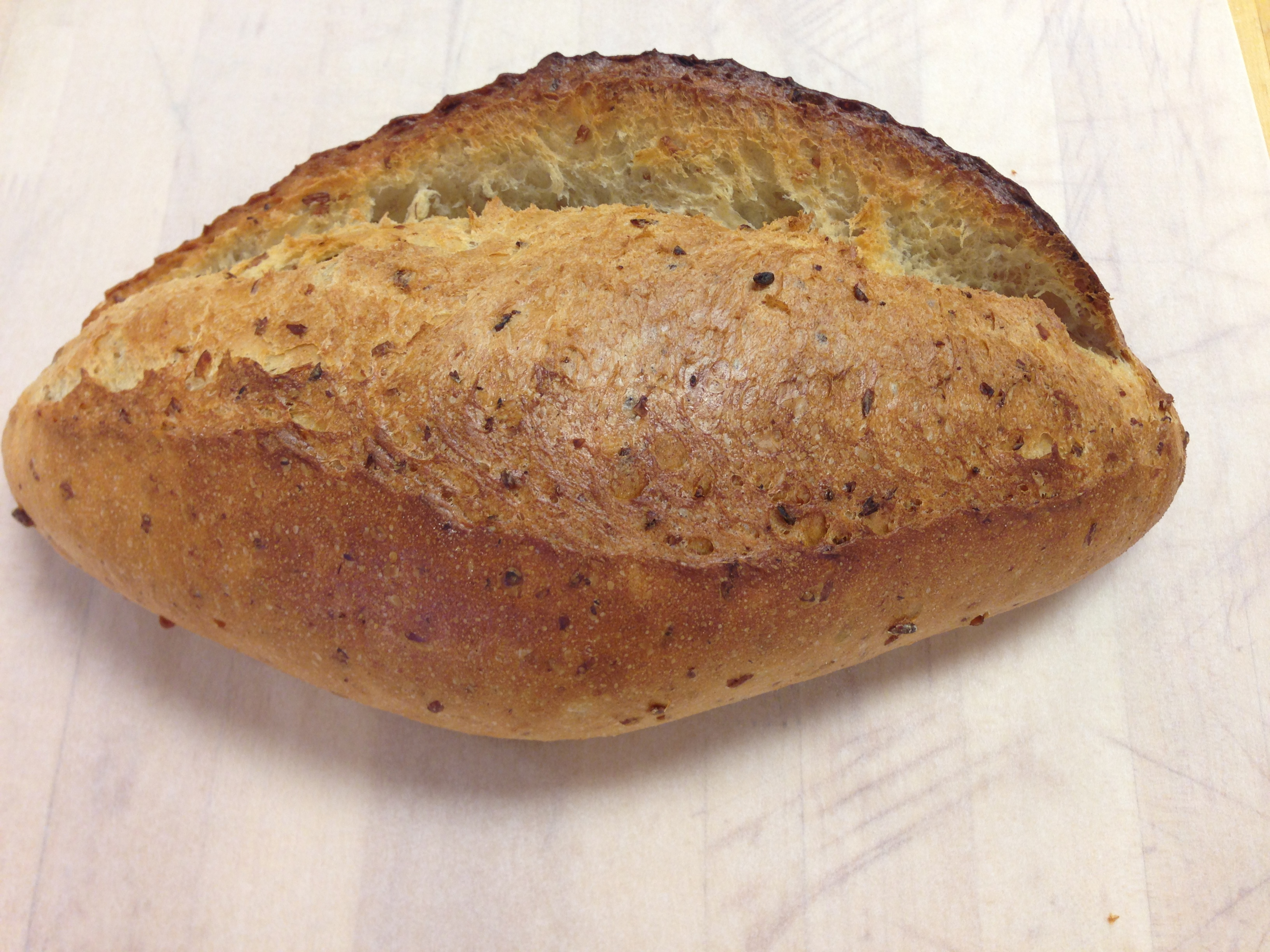 Multigrain batard bread recipe
